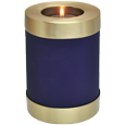 Customizable Wholesale Memorial Candle Pet Urn plain nightfall blue