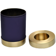 Wholesale Urn Keepsake: Blue Nightfall Candle Holder Urn shown with open lid