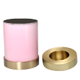 Wholesale Memorial Candle Pet Urn pink shown with open lid
