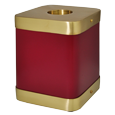 Wholesale Scarlet Brass Square Cat Cremation Urn side shown