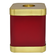 Wholesale Scarlet Brass Square Cat Cremation Urn front view