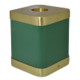 Wholesale Sage Brass Square Cat Cremation Urn side shown