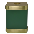 Wholesale Sage Brass Square Cat Cremation Urn