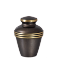 Umber and Gold Banded Mini Urn