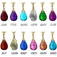 wholesale birthstone charm with gold-plated bail