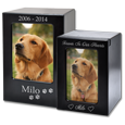 Wholesale Espresso Satin-Finish Wood Pet Urn in large & small