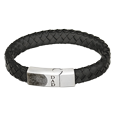 Leather and Stainless Steel Bracelet front