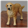 Detail of Golden Retriever dog figurine