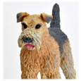 Wholesale Airedale terrier dog figurine detail