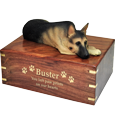 Wholesale German Shepherd dog urn engraved with gold fill
