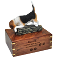 Wholesale Beagle dog figurine engraved urn