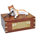 Wholesale Red Husky with stick Blue Eyes urn engraved plaque