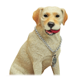 Wholesale Yellow Labrador Retriever figurine detail