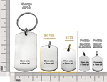 size comparison of dog tag pendants