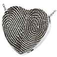 Wholesale B&B Heart Double Print Jewelry chamber sterling silver