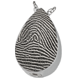 Silver Teardrop Full-coverage Fingerprint Jewelry with compartment