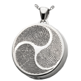 Wholesale B&B Silver Round Shinto Tri-print Jewelry with compartment