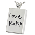 Wholesale sterling silver persoanlized chamber charm handwritten note