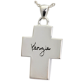 Wholesale flat sterling silver cross personalized jewelry signature