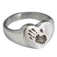 Wholesale Bold Heart Handprint Ring in sterling silver