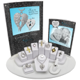 11- Piece Cremation Jewelry Display with vertical signage