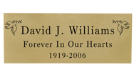 Wholesale Engraved Memorial Plaque- Large Brass Finish Black Fill
