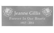 Wholesale Engraved Memorial Plaque- Large Silver Finish in block