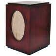Wholesale Cherry Finish Urn with Oval Photo Frame Urn shown plain