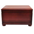 Additional view of Wholesale Cherry Finish Grooved Horizontal Wood Urn