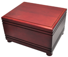 Wholesale Large Dog Urns: Cherry Finish Grooved Horizontal Wood Urn