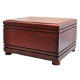 Wholesale Cherry Finish Grooved Horizontal Wood Urn
