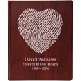 Wholesale Funeral Guest Book Wooden Binder- Fingerprint Option