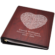 Wholesale Funeral Guest Book Wooden Binder- Fingerprint
