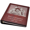 Wholesale Funeral Guest Book Wooden Binder- Family Photo
