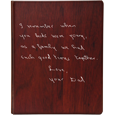 Wholesale Funeral Guest Book Wooden Binder- Handwritten Note Option