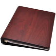 Wholesale Funeral Guest Book Wooden Binder shown plain with no engraving