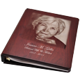 Wholesale Funeral Guest Book Wooden Binder- Photo