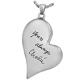 Wholesale Teardrop Heart with Handwriting urn jewelry in silver