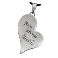 Wholesale Teardrop Heart with Handwriting available in stainless steel