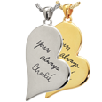 Wholesale Teardrop Heart with Handwriting available in silver or gold