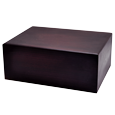 Wholesale Quantity-Pack Urns: Dark Brown Wooden Box Urn, Large