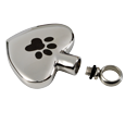 urn opening shown paw my heart stainless steel pet cremation jewelry