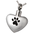 Wholesale Pet Cremation Jewelry Stainless Steel Paw My Heart- wide heart