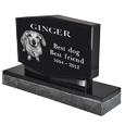Side view of Wholesale Pet Photo Laser Engraved Granite Headstone- Diamond