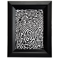 Full coverage fingerprint style memorial portrait