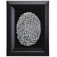 Oval outlined fingerprint style