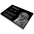 "Wholesale Pet Photo Laser Engraved Granite Flat Headstone- 1"" thick"