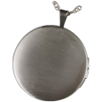 Back shown of Sterling Silver Round Photo Locket- Noseprint