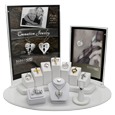 NMD 11- Piece Cremation Jewelry Display with vertical signage
