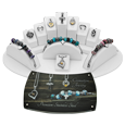 Premium stainless steel cremation jewelry display